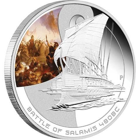 1oz Silver Proof Coin Series The Battle of Salamis 480BC  battle of salamis coin , perth mint coins, bullion coins , silver  coins