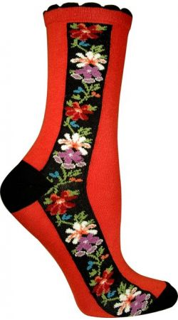 NORDIC STRIPE SOCK, RED    Swedish Style Nordic Stripe Socks will complement many of our Troentorp Clogs.