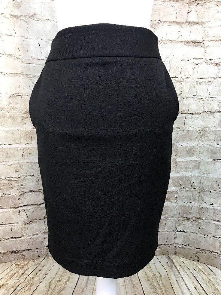 Women's Express Black Pencil Skirt Size 2 Pockets on Front Above Knee Career  | eBay