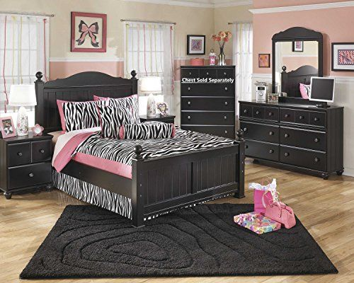 With the rich black paint finish surrounding a comfortable cottage design, the Jaidyn Poster Bed Room Set fits flawlessly into any child's bedroom. Set includes one full size bed, one dresser & mirror and two nightstands. The decorative moulding, turned bunfeet details beautifully... more details available at https://furniture.bestselleroutlets.com/children-furniture/bedroom-sets-children-furniture/product-review-for-jaidyn-youth-wood-poster-bed-room-set-in-rich-blac