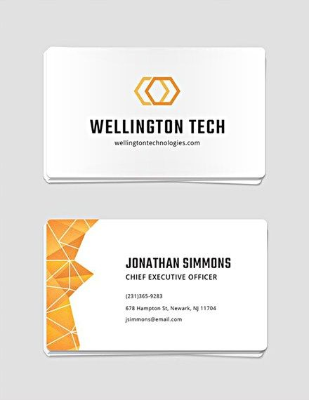 Free Professional Business Card Template Business Card Design