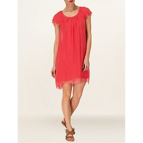 £44 Buy Phase Eight Eloise Silk Frill Dress, Gerbera Online at johnlewis.com