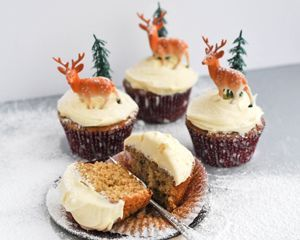 Go wild with the Christmas decoration on fruit mince cupcakes with brandy spiked icing for seasonal delight
