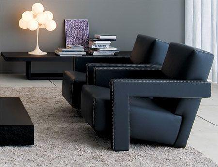 Gerrit Rietveld's Utrecht Black Chair