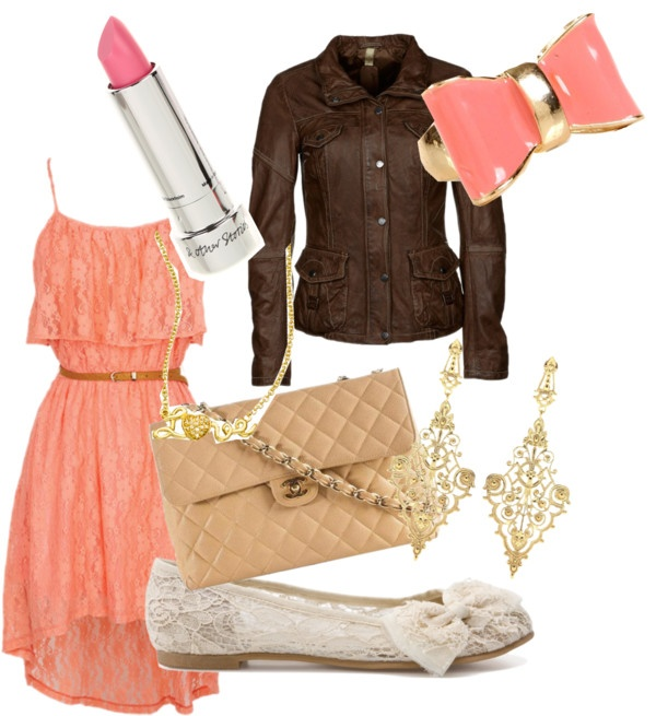 """""""peach outfit"""" by gewankelman on Polyvore"""