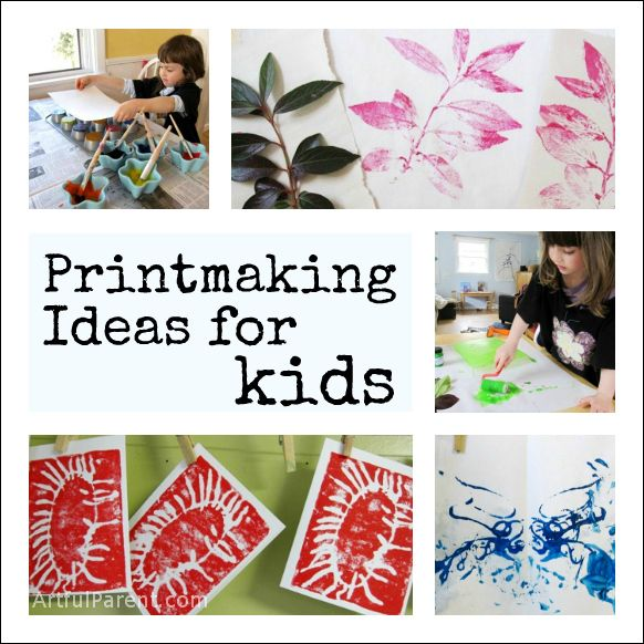 40+ Fun Printmaking Ideas for Kids    #kidsart #artsed