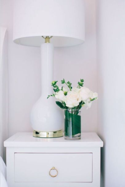 Swap out neutral table lamps and bedside lamps with bright lampshades to add a new touch for spring!