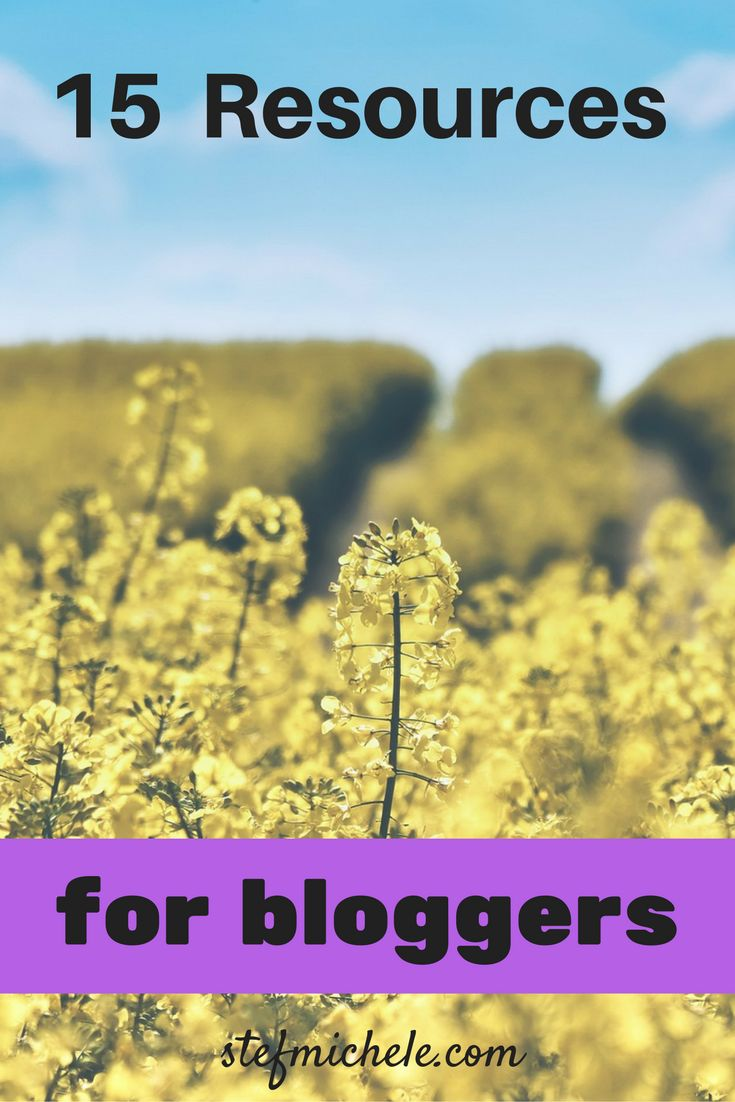 15 helpful resources for bloggers