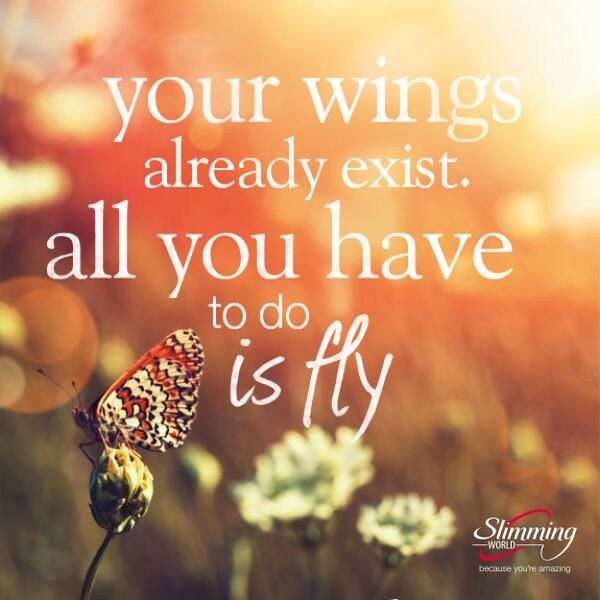 Your wings already exist. All you have to do is fly :)