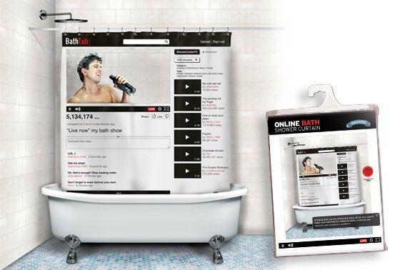 interactive bath shower curtains