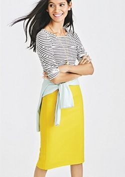 J Crew Factory - Stripes, Mint and Yellow