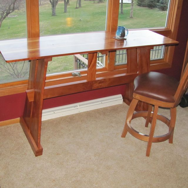 This Trestle Table Is Perfect For Enjoying Morning Coffee While Reading The  Paper.
