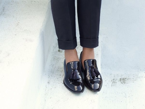 Céline Patent Leather Flats X7XMnn