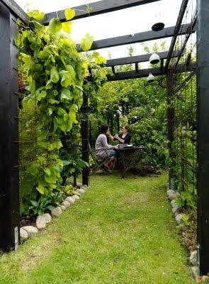 Vi tre & trädgård - blogg: Trädgårdsrum