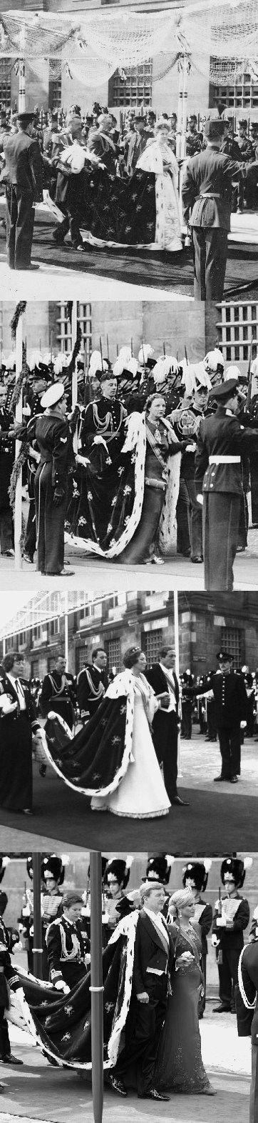 Inhuldiging Koningin Wilhelmina 1898 | Koningin Juliana 1948 | Koningin Beatrix 1980 | Koning Willem Alexander 2013