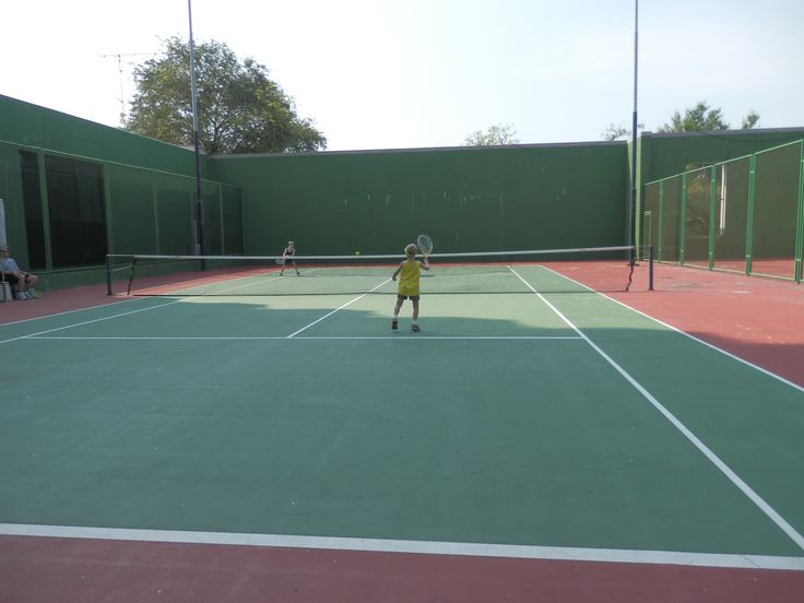 One of two Tennis Courts at the Hilton Hua Hin Resort in Thailand