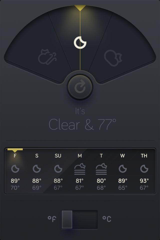 New nighttime UI for WTHR app.
