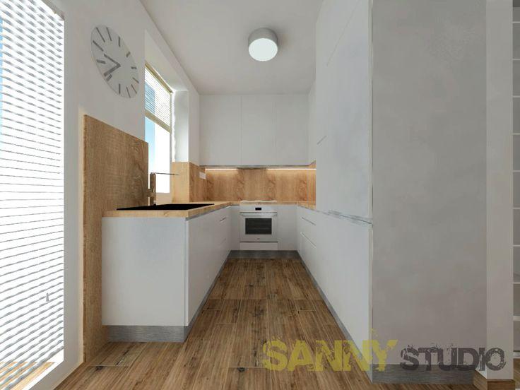 Návrh kuchynskej linky do 3 izbového bytu  v Rači, Bratislava.