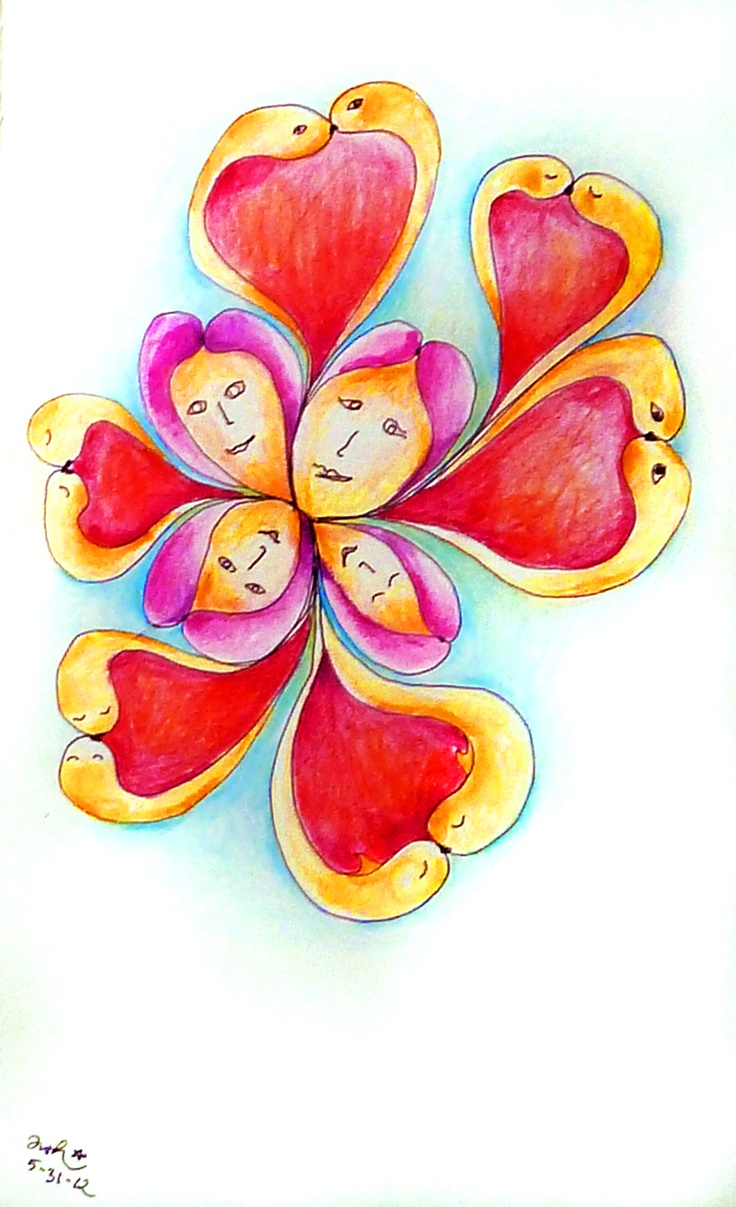 Channeled Drawing May 31, 2012 by Antonia Wibke Heidelmann ~ Love, love love ~