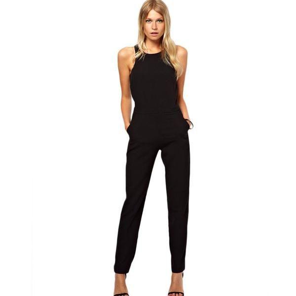 The 25  best Black jumpsuit ideas on Pinterest | Backless jumpsuit ...