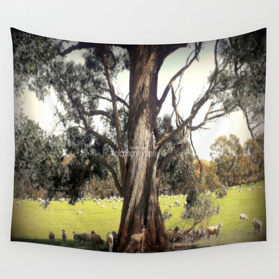 Under the shade of a Coolabah Tree Wall Tapestry