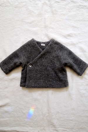 charcoal cashmere baby jacket, easy to make from an recycle~adult sweater