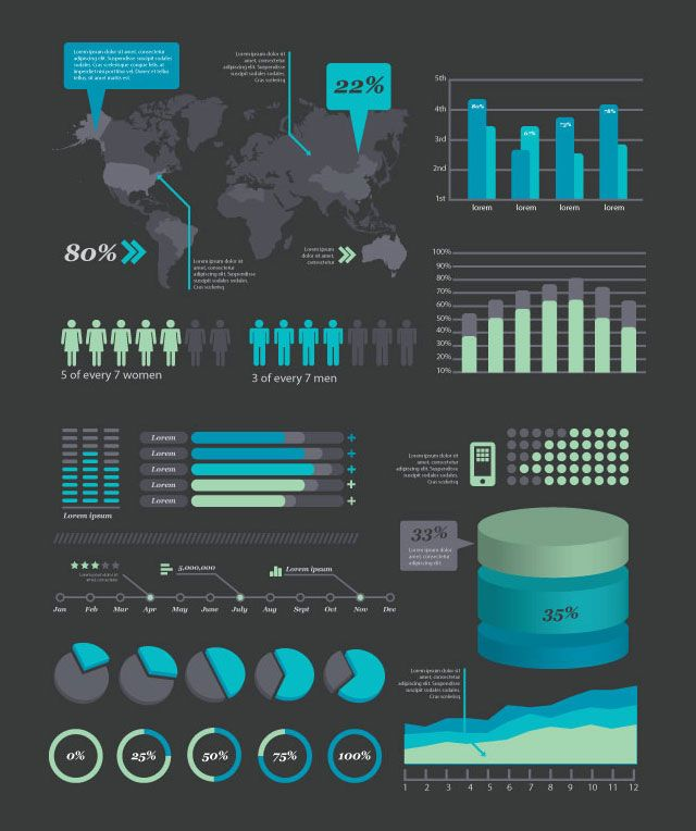 Free & Premium Design Elements For Creating Infographics - Blog of Francesco Mugnai