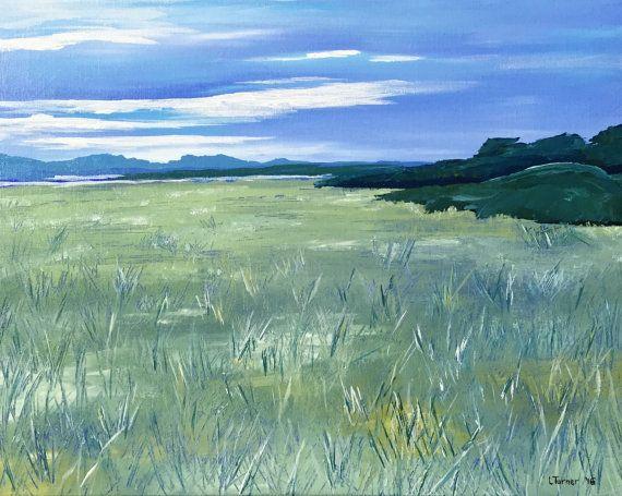 Australian Landscape Painting, Port Sorell, Tasmania, Original, Acrylic on Canvas, Australian Artist, Ready to Hang