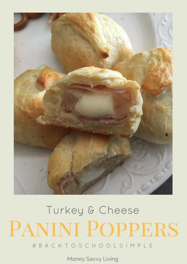 Turkey & Cheese Panini Poppers // Giant Eagle Back to School // Delicious appetizer or quick weeknight meal! // Money Savvy Living