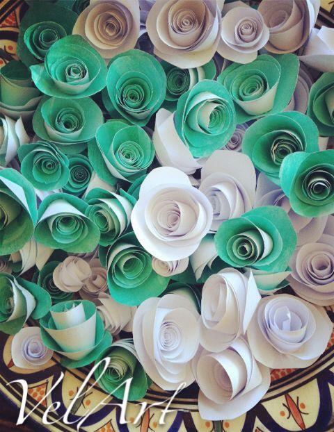 Tiffany paper flowers
