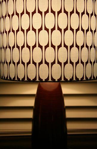 lighting pattern. mid century lampshade lighting pattern