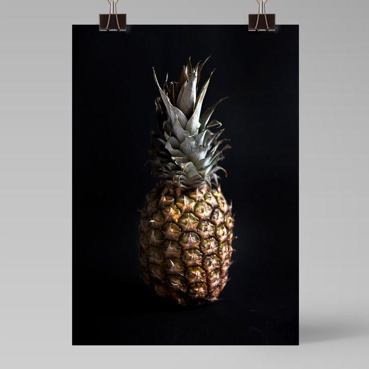 Pineapple poster - Ainoa Graphic Design