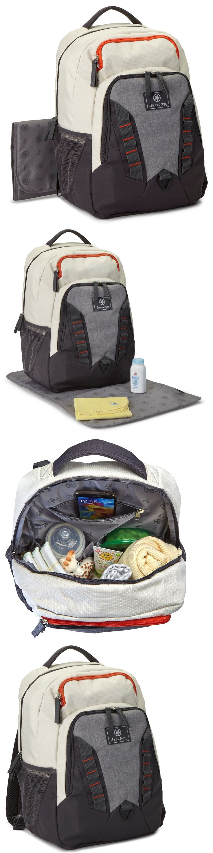 Other Diapering 20399: Jeep Adventurers Charging Baby Diaper Bag Backpack W Power Bank And Changing Pad -> BUY IT NOW ONLY: $49.99 on eBay!