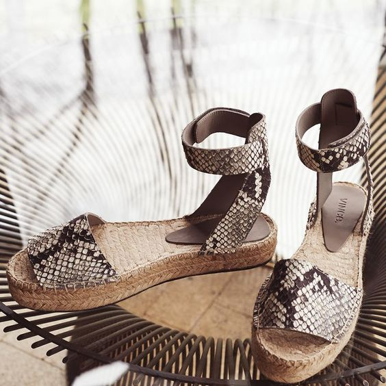 Pretty Snake print Espadrille sandals perfect for summer