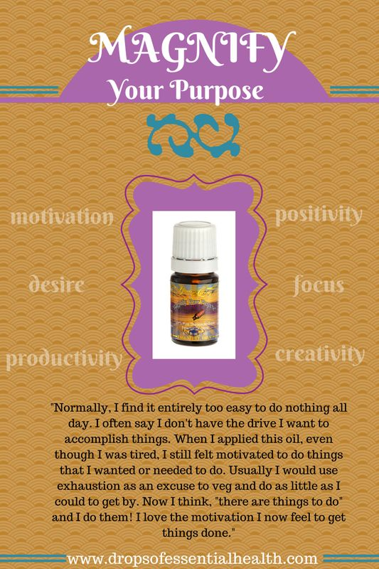 Magnify Your Purpose essential oil for motivation and productivity