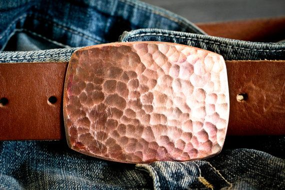 Distressed = good when the thing being distressed is an awesome copper belt buckle.