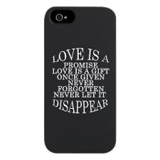 LOVE IS A PROMISE iPhone 5/5S Snap Case