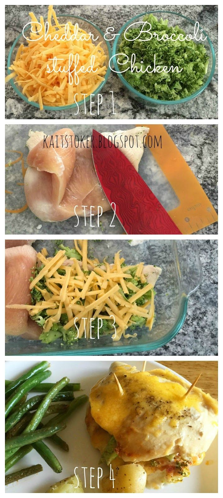 Fit For Me: Cheddar and Broccoli stuffed Chicken