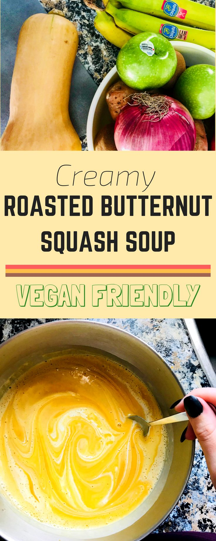 Vegan Roasted Butternut Squash Soup - Creamy and delicious! Perfect for Thanksgiving!
