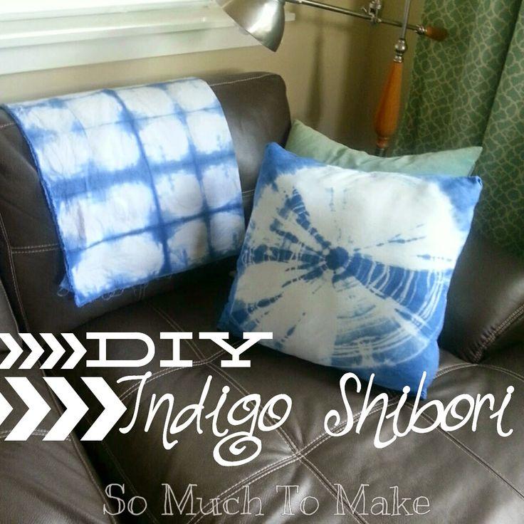 DIY Indigo Shibori Textile Dyeing; Tie Dye Tutorial teaches how to use ancient method to make beautiful fabrics for home decor and clothing