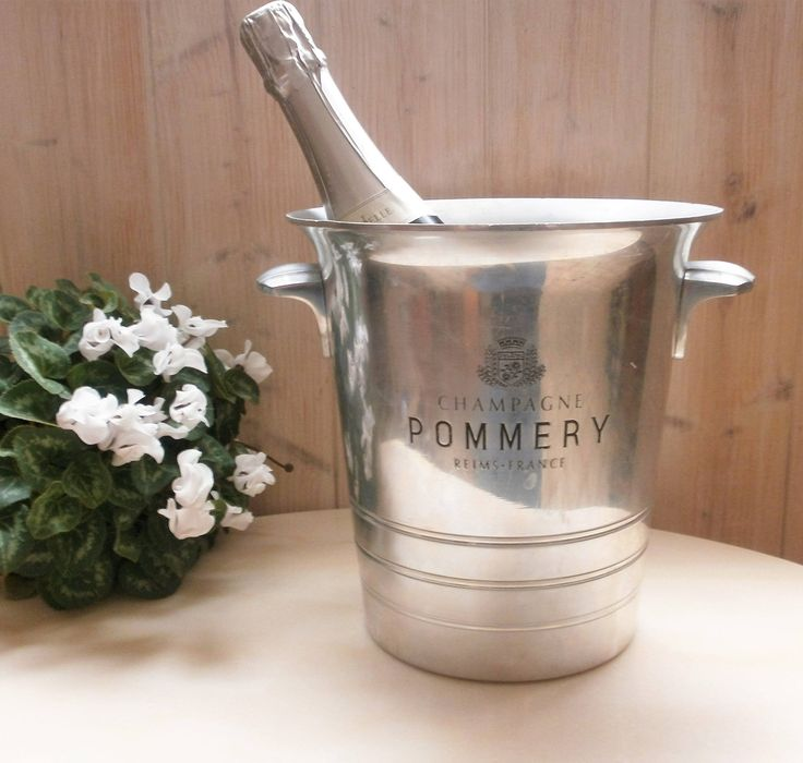 Vintage French POMMERY Champagne bucket Made in France - Seau à champagne Pommery Made in France de la boutique FrenchVintageByManue sur Etsy