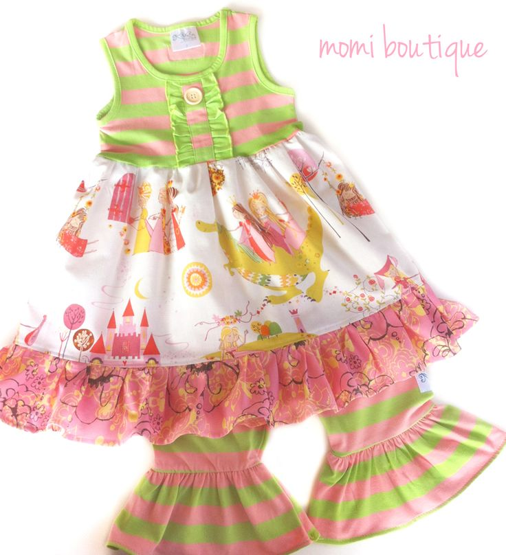 Summer Dragon dress by Pink MOMI girls toddler boutique clothing