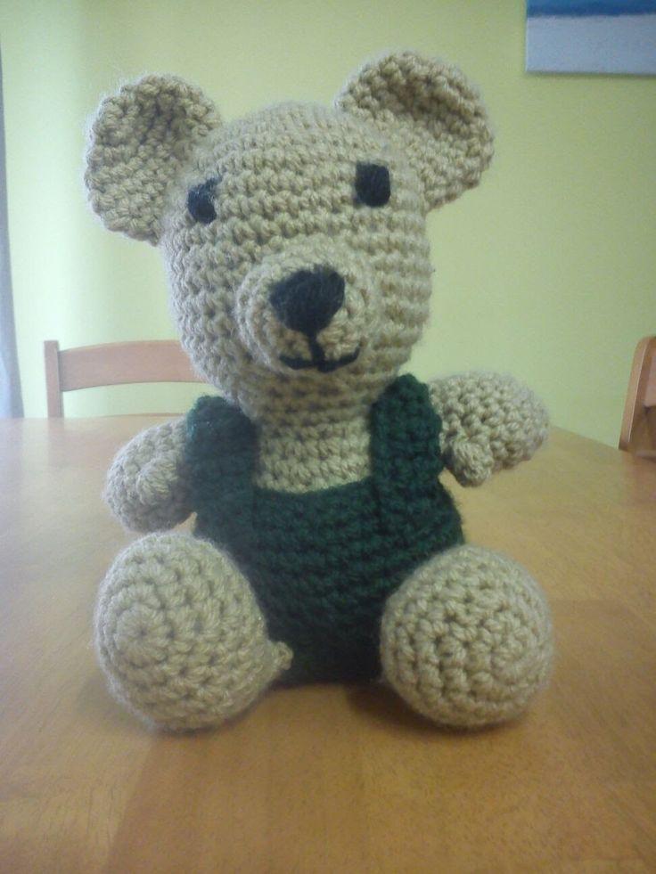 Háčkovaná hračka - medvídek -  1. část - crochet bear