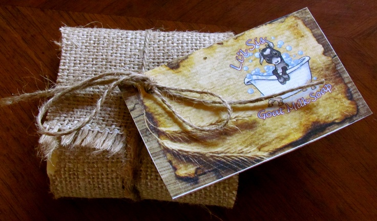 Li'l Sis Goat Milk Soap wrapped in 100% Natural and Recycled materials