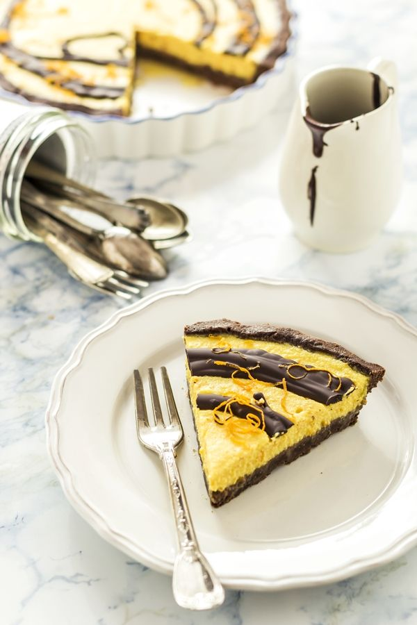crostata cioccolato e arancia - orange chocolate tart