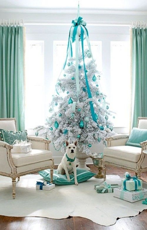 17 best images about white christmas tree decorating ideas for White christmas tree pinterest
