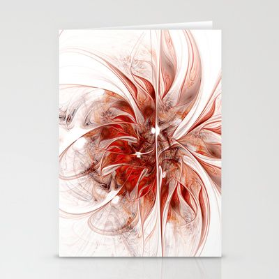 Fractal Flower Erotica Stationery Cards by Fine2art - $12.00
