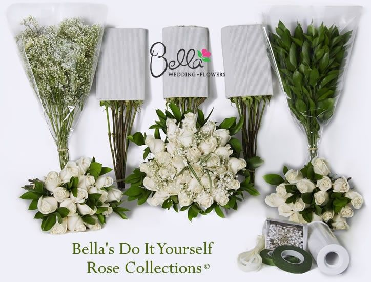 Bella Wedding Flowers Makes It Easy To Design And Create Your Own With Our Fresh White Roses Diy Rose Collection Contains Step By