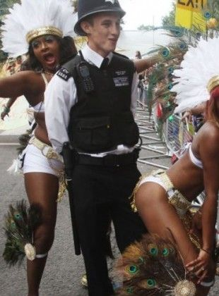 Carnival is the time for everyone to enjoy themselves...even the police!