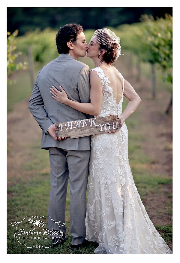 SoBliss vineyard wedding thank you sign